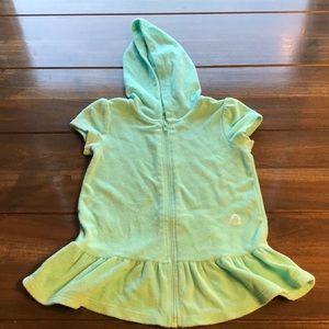 Toddler Girl Mint Green Hooded Swim Coverup